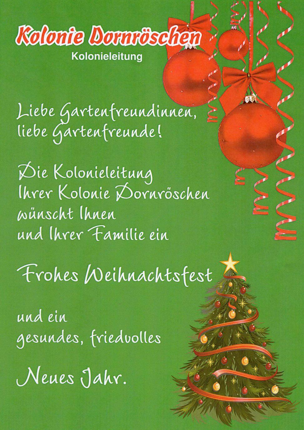Frohe Weihnachten - Dornröschen