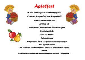 """Apfelfest @ """"Rosentreff"""" in Rosendorf"""