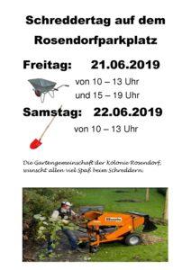 Schreddertag 2019 @ Parkplatz Rosendorf